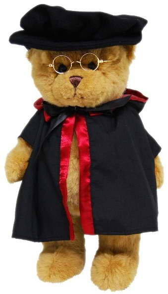 Graduation Doctor PHD Hat Bear – 35cm
