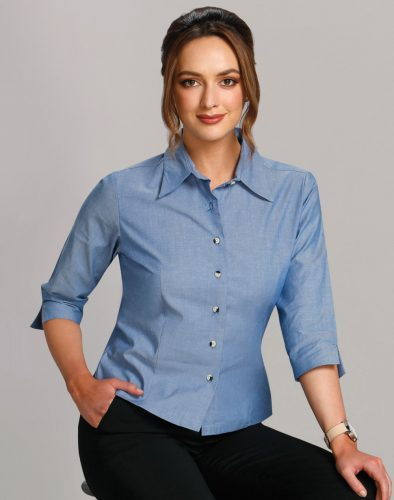 BS04 – Ladies 3/4 Chambray Shirt