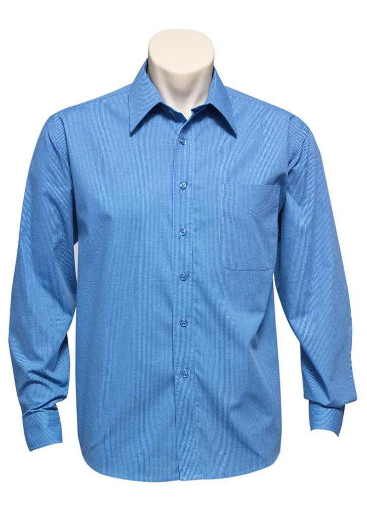 Biz – Mens L/S Micro Check Shirt – SH816