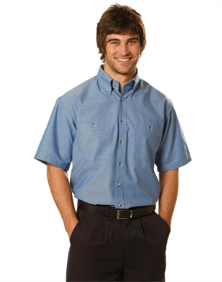 Mens S/S Chambray Shirt – BS03S