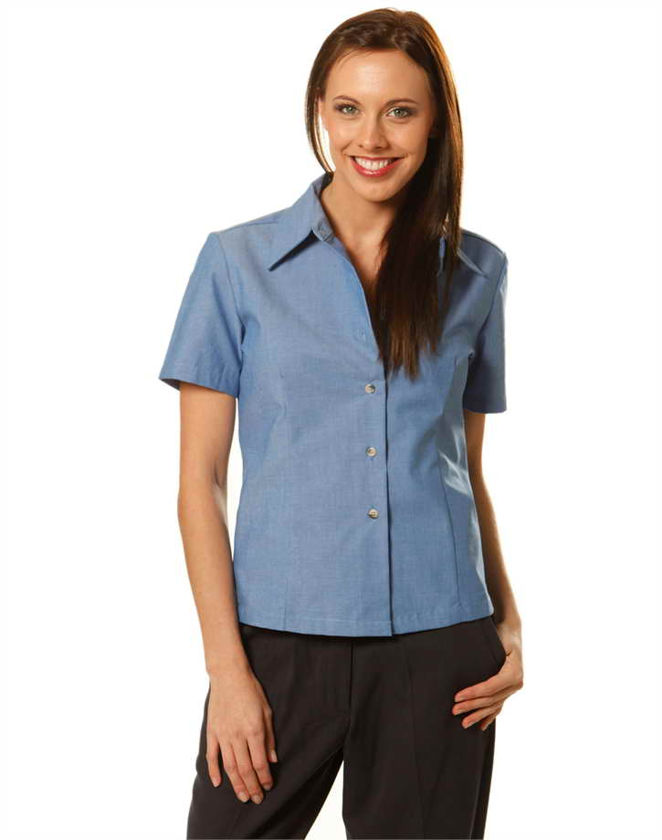 Ladies S/S Chambray Shirt – BS05