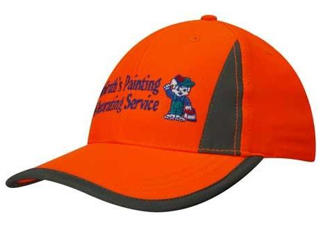 Luminescent Safety Cap with Reflective Inserts and Trim – 3029