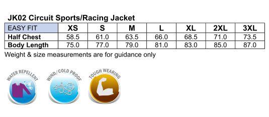 JK02 CIRCUIT Sports/Racing Jacket Unisex