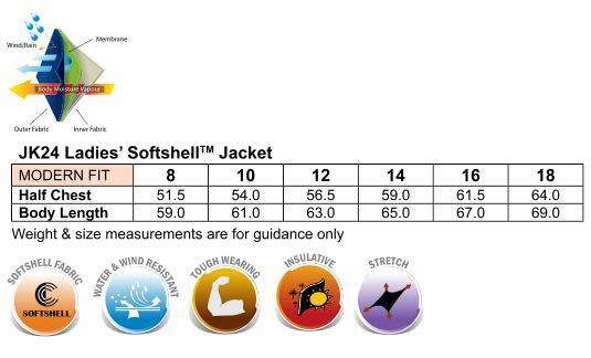 JK24 Ladies Softshell Hi-Tech Jacket