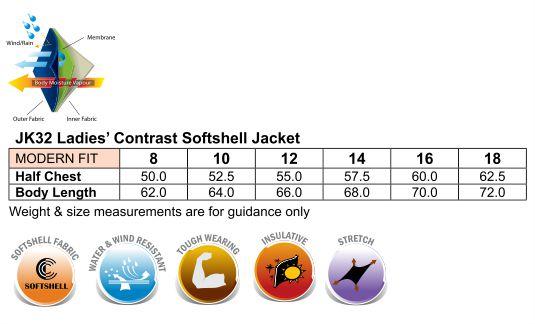 Ladies Whistler Softshell Contrast Jacket - JK32