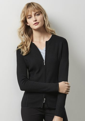 Ladies Zippered Cardigan – LC3505