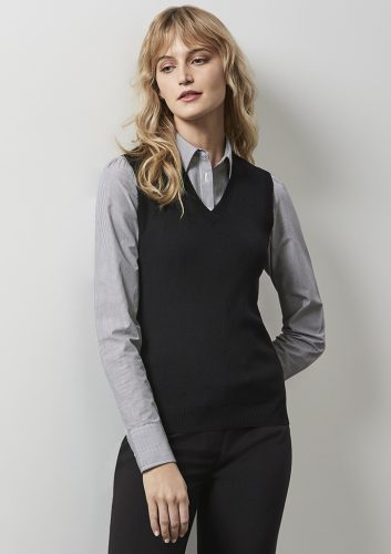 Ladies V Neck Vest – LV3504