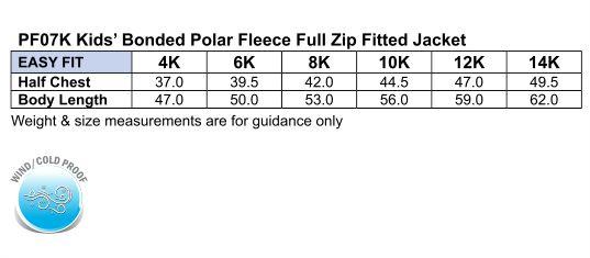 Kids Frost Polo Fleece Jumper- PF07K