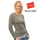 Hanes – Ladies Long Sleeve – AU2140