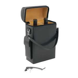 Geneva 2 Bottle Leather Wine Carrier – D229