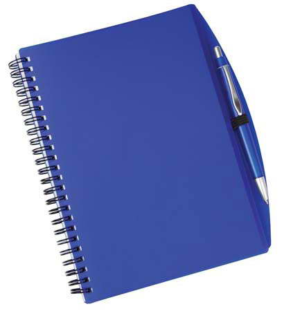 A4 Spiral notebook & pen – G1082