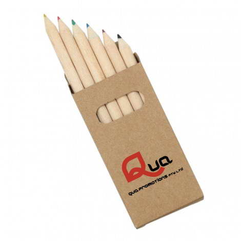 Z404 – 6 PACK NATURAL WOOD COLOURING PENCILS
