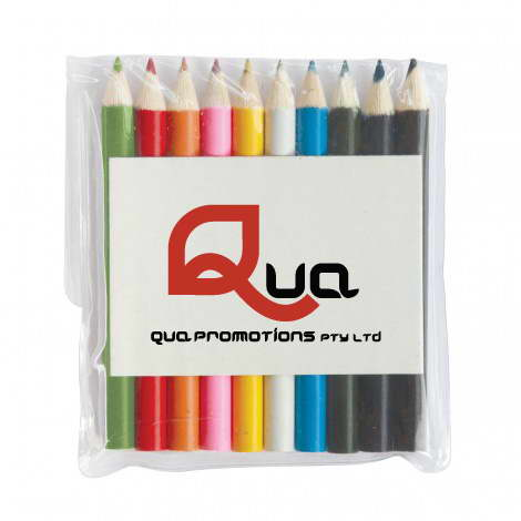 Z603-10 – 10 COLOURED PENCILS IN POUCH