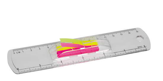 15cm Ruler with flags – G1275