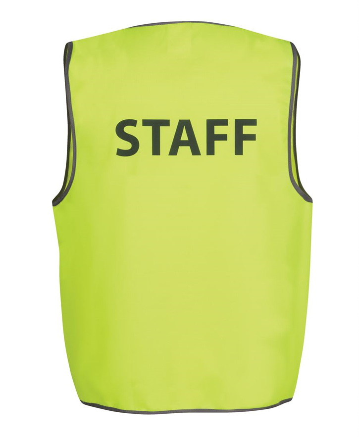 Hi Vis Safety Vest STAFF – JB6HVS6