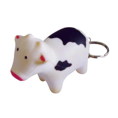 STRESS COW KEYRING