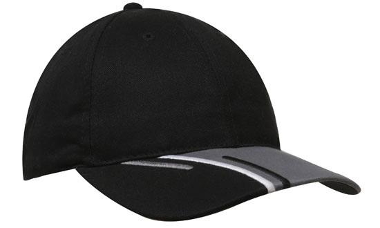 Tri-Coloured Peak Cap – 4178