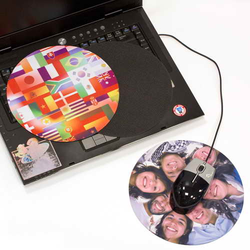 Circular 3-in-1 Notebook Mouse Pads 200mm