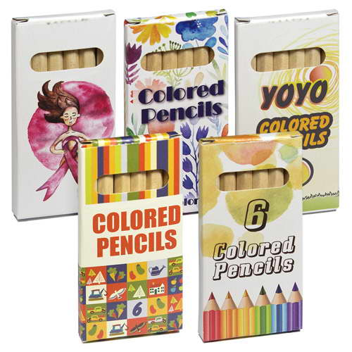 PK06022A – 6 Small Coloured Pencils