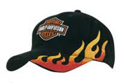 Flame Embroidery Cap – 4226