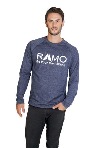 RAMO Mens Greatness Heather Long Sleeve T-shirt – T223LS