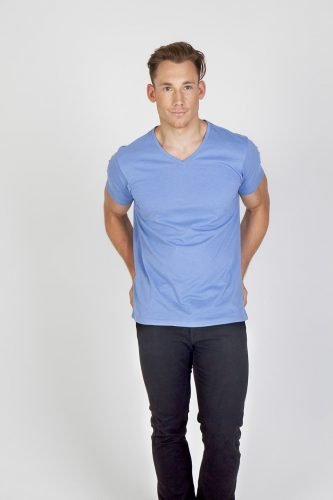 Ramo Mens Marl V-neck T-shirt – T903TV