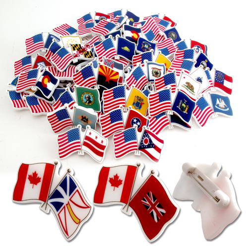 Cross Acrylic Flag Badges – PK27018Z