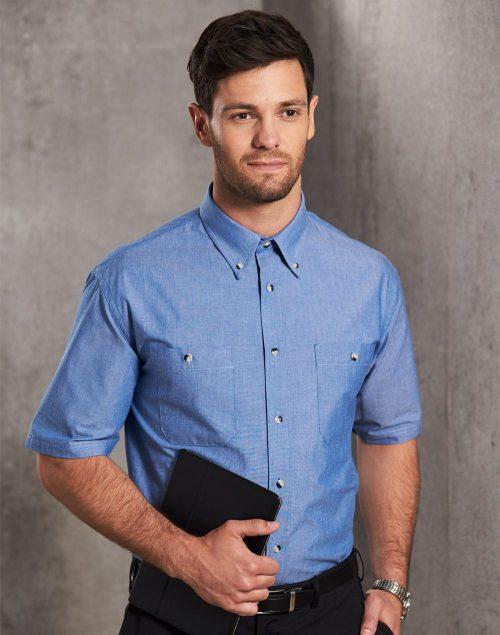 Men's Chambray Short Sleeve – BS03S