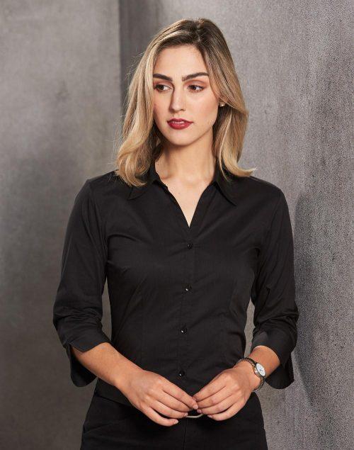 Women's Teflon Executive 3/4 Sleeve Shirt – BS07Q