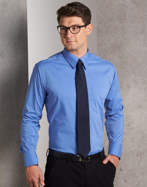 Men's Teflon Executive Long Sleeve Shirt – BS08L