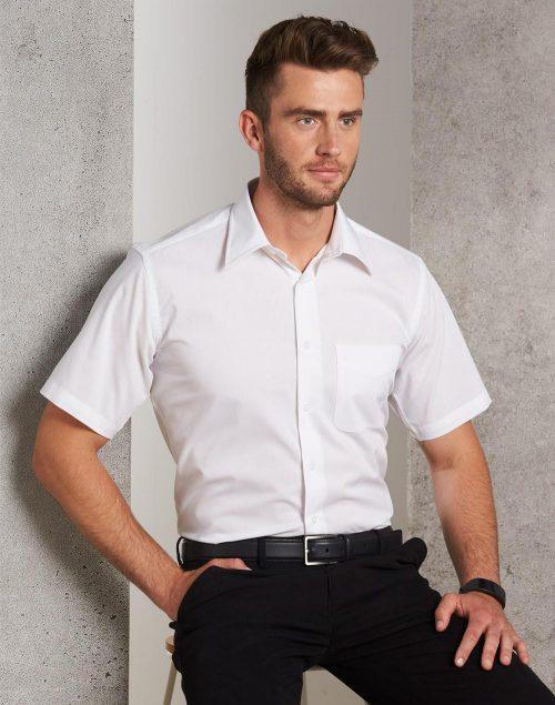 Men's Telfon Executive Short Sleeve Shirt – BS08S