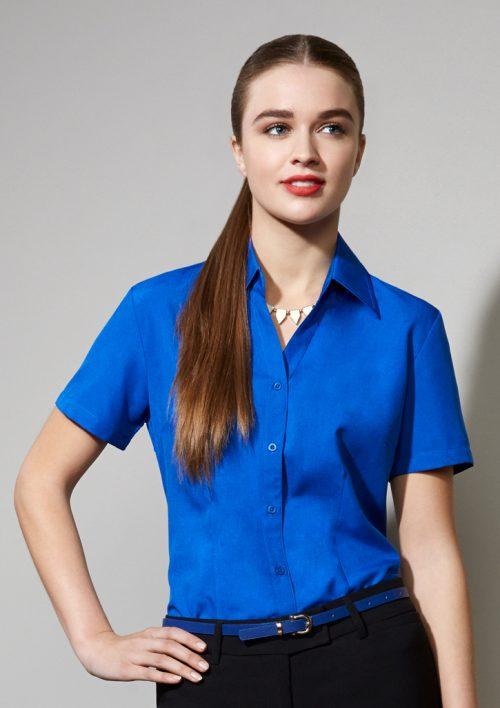 Ladies Plain Oasis Short Sleeve Shirt – LB3601