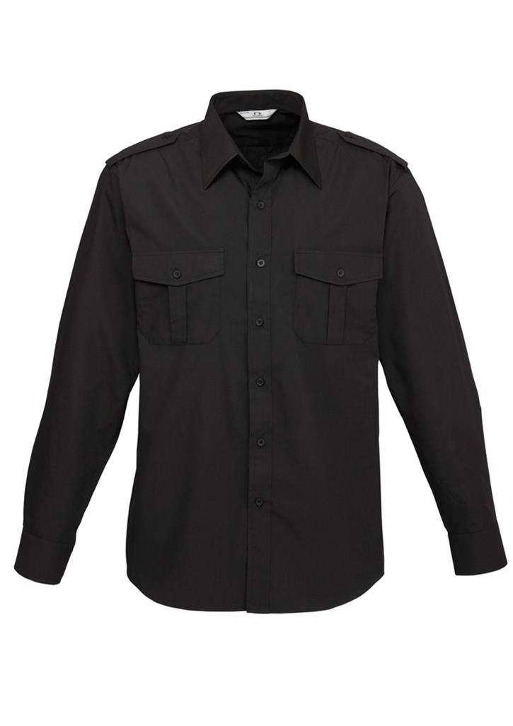 Biz – Mens L/S Eppaulette Shirt – S10710