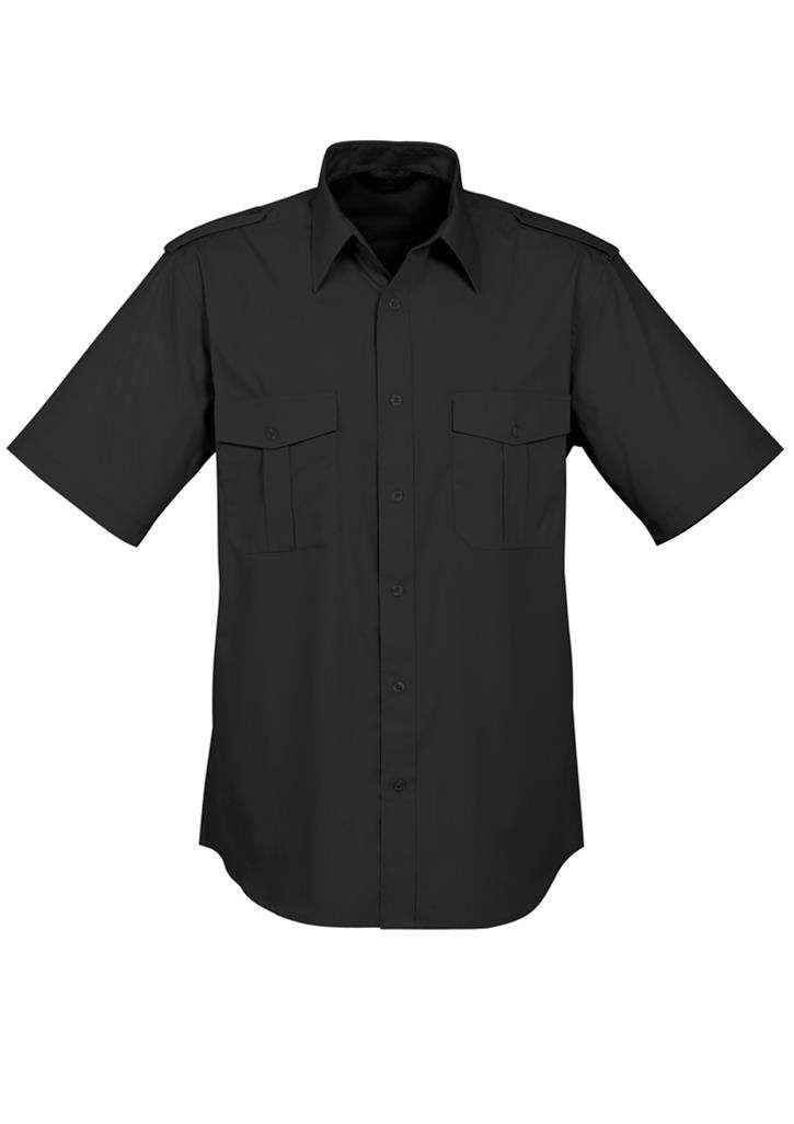Biz – Mens S/L Eppaulette Shirt – S10712