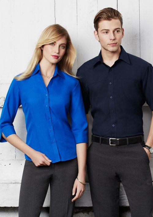 Mens Plain Oasis Short Sleeve Shirt – SH3603