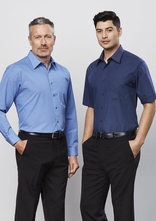 Mens Micro Check Long Sleeve Shirt – SH816