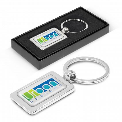 Rectangular Metal Key Ring – 100316