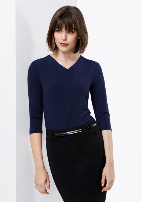 Ladies Lana 3/4 Sleeve Top – K819LT
