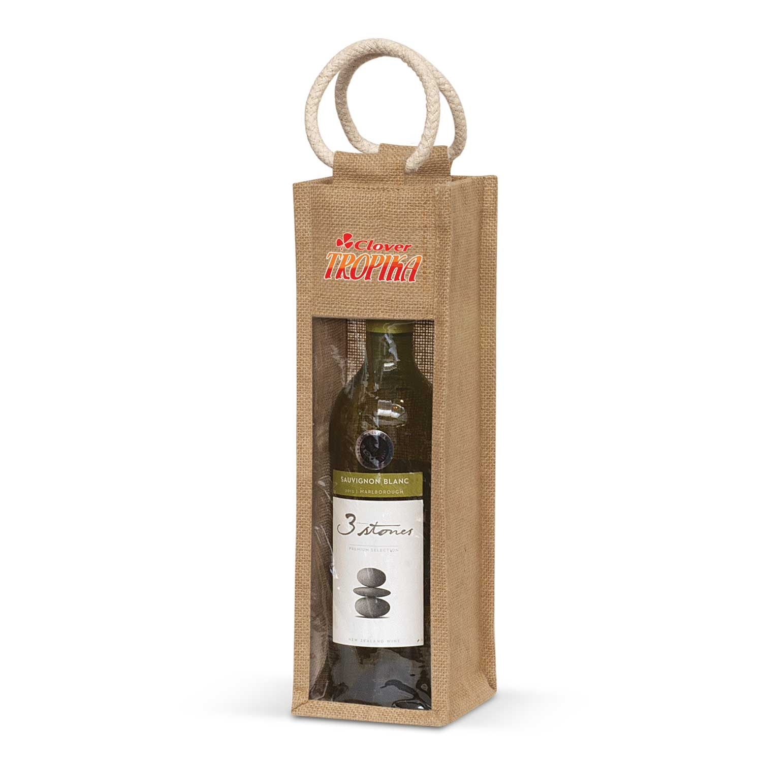 Serena Jute Wine Carrier – 108039