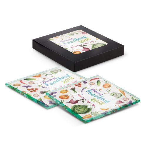 Saturn Glass Coaster Set of 2 – Full Colour – 109777