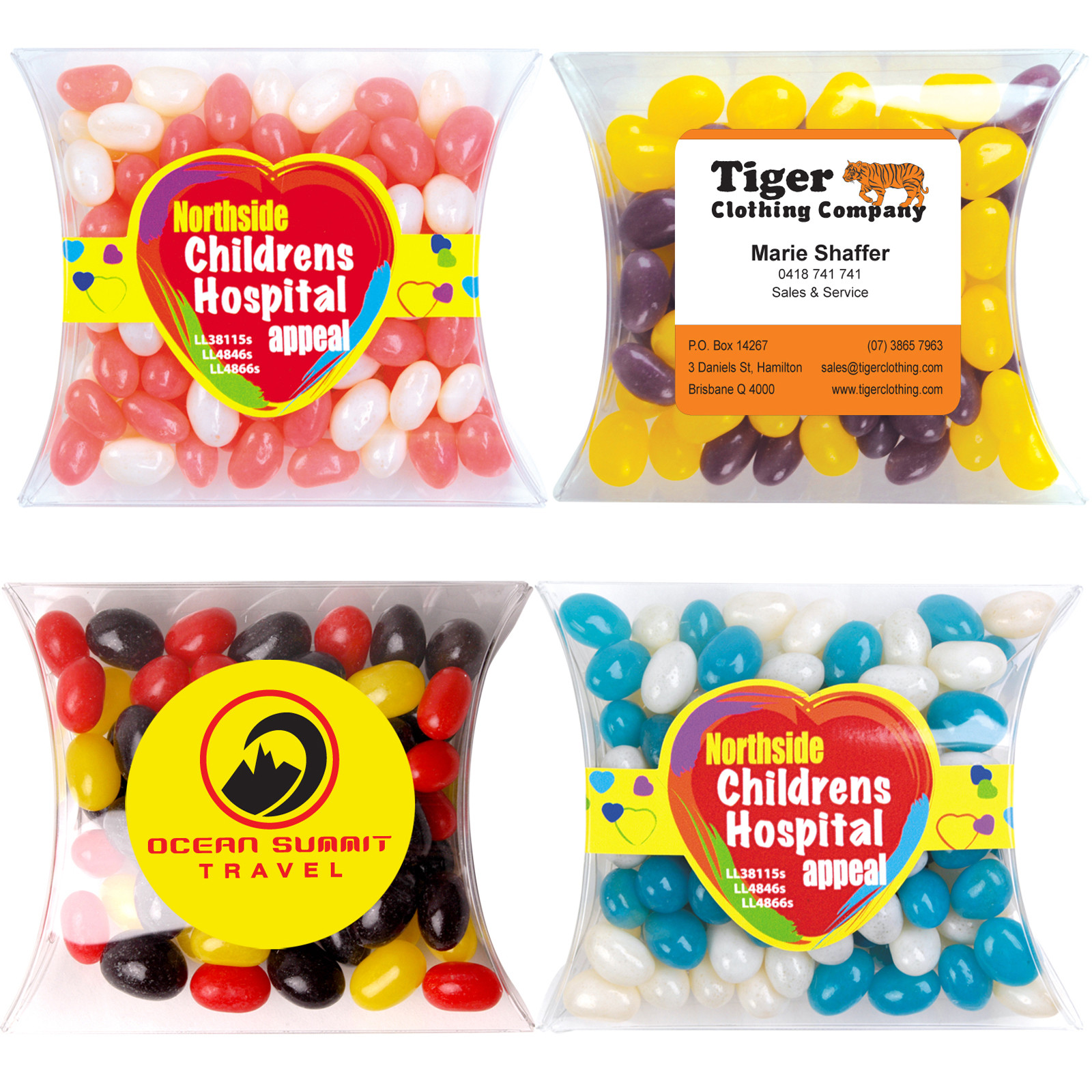 Corporate Colour Mini Jelly Beans in Pillow Pack – LL4866