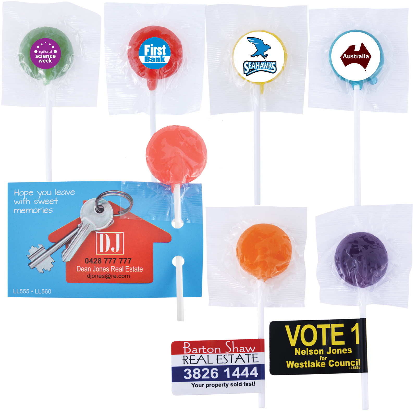Assorted Colour Lollipops – LL555