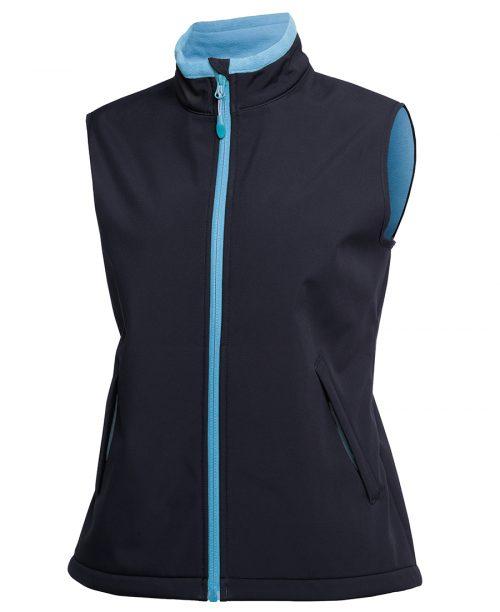 Ladies Podium Water Resistant Softshell Vest – 3WSV1