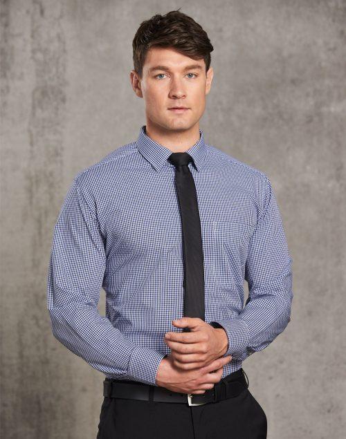 Men's Multi-Tone Check Long Sleeve Shirt – M7320L