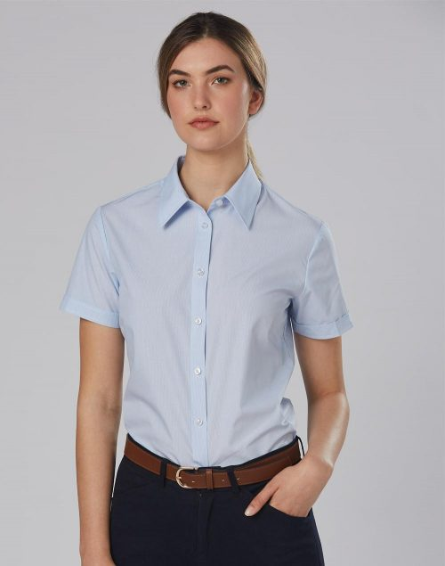 Women's Fine Stripe Short Sleeve Shirt – M8211